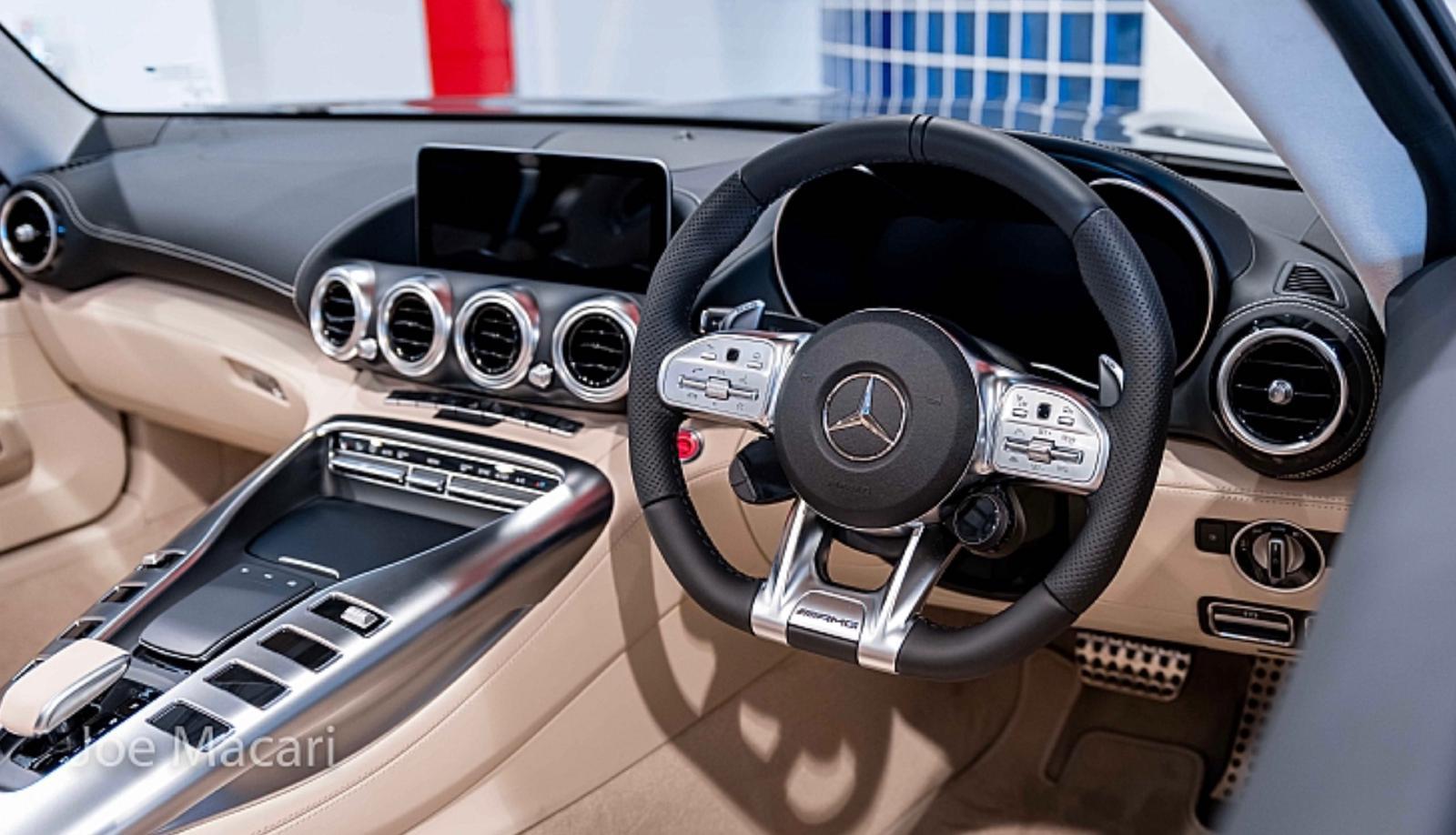 AMG GTS dash and steering wheel